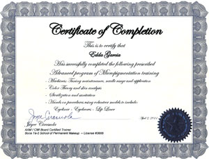 Advanced Micropigmentation -Advanced Permanent Makeup Training Techniques Certificate